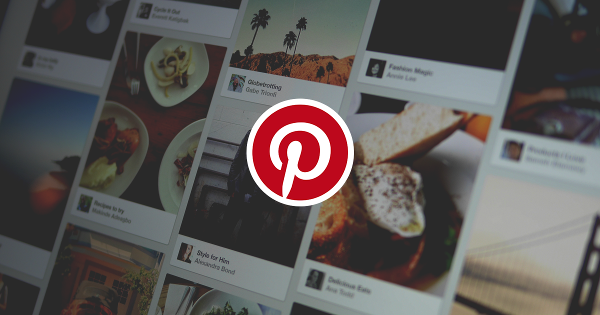 Pinterest logo with background