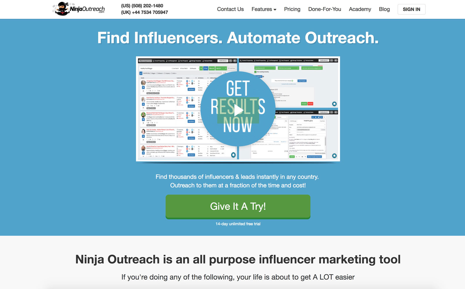 Ninja Outreach is the go-to tool for finding influencers | Top 5 Influencer Marketing Tools for Content Promotion