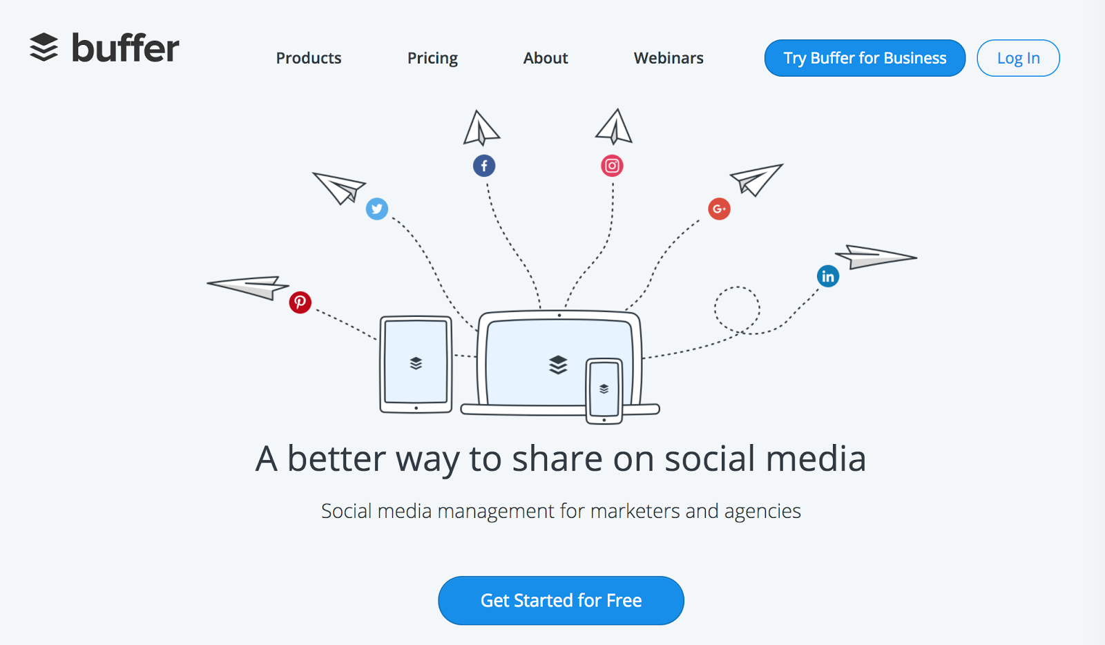 Buffer is an automation app that lets you schedule social media posts and share your content at the best possible times throughout the day for visibility and exposure.