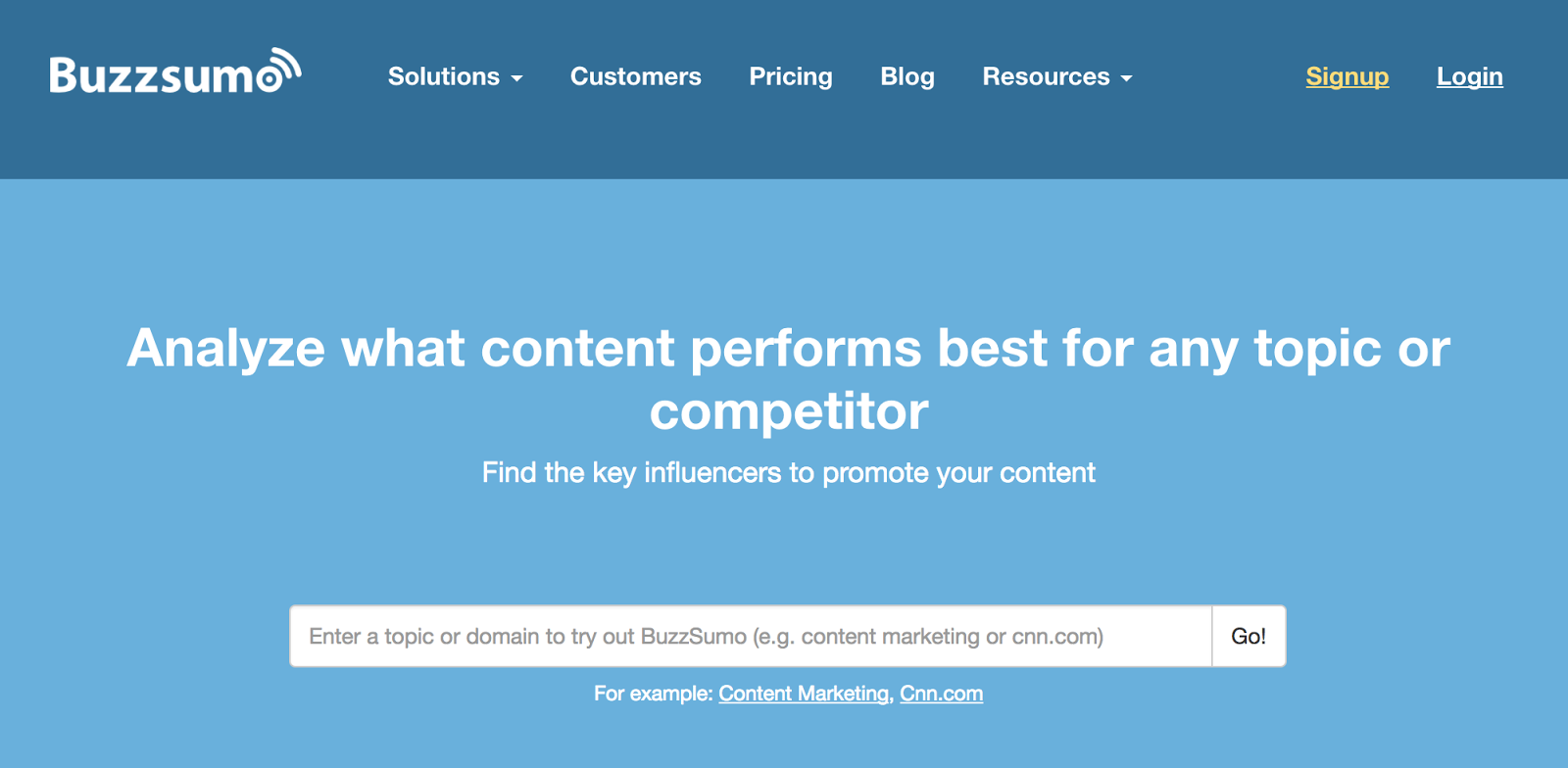 Buzzsumo makes planning and producing content easier by giving you an instant look into the top-performing content for any topic.