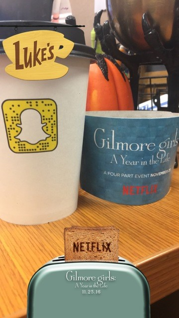 Users could unlock this Snapcode to gain access to an exclusive Gilmore Girls Snapchat Filter.