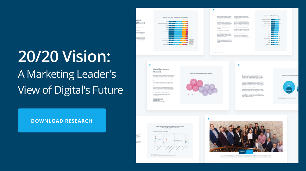 2020 Vision: A Marketing Leaders Vew of Digital's Future | Download Report