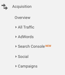 Acquisition reports let you know how users are finding your website and give you a much more detailed understanding of your traffic.