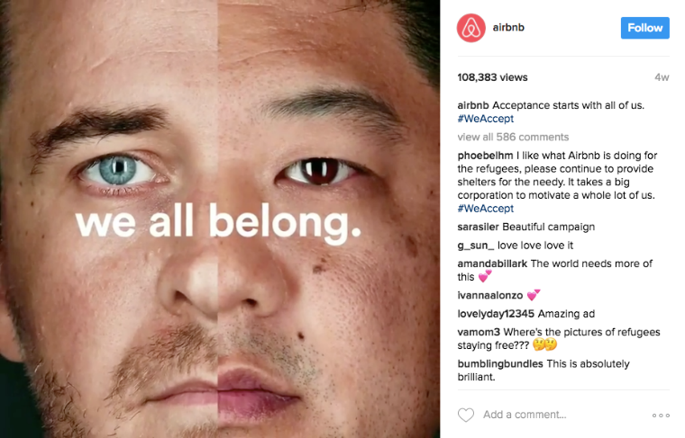 Airbnb 'We All Belong' campaign