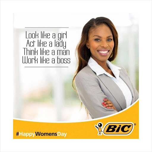 Bic's 'act like a lady, think like a man' campaign