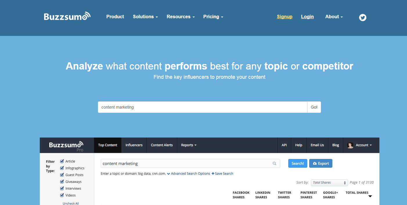 3 Tools Every Digital Marketer Should Have in Their Toolkits - Buzzsumo | Digital Marketing Institute