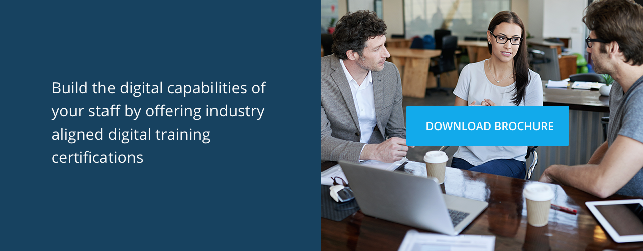 Transform the digital skills of your workforce | Download corporate brochure
