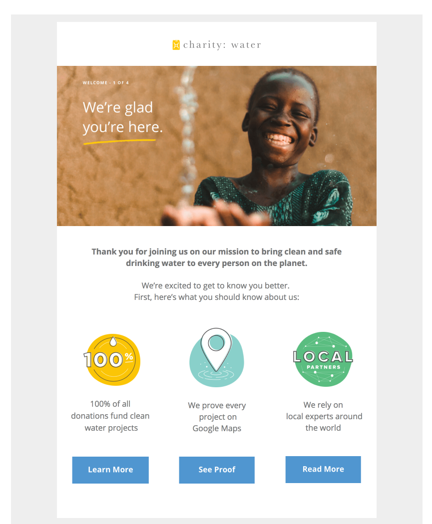 charity water email