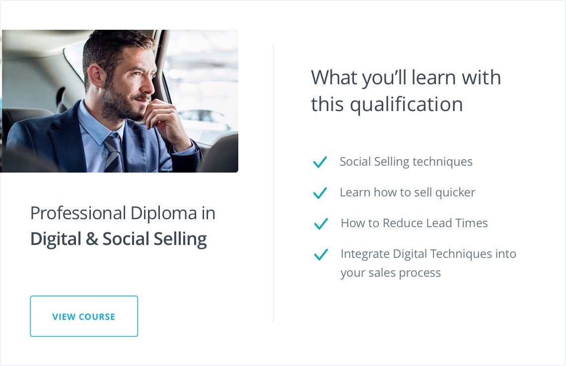 Professional Diploma in Digital & Social Selling