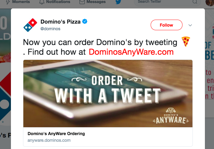 Dominos tweet-to-order campaign