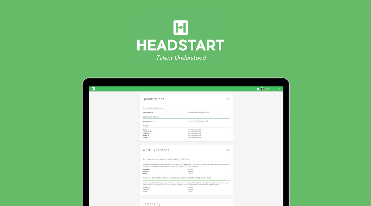 Headstart technology