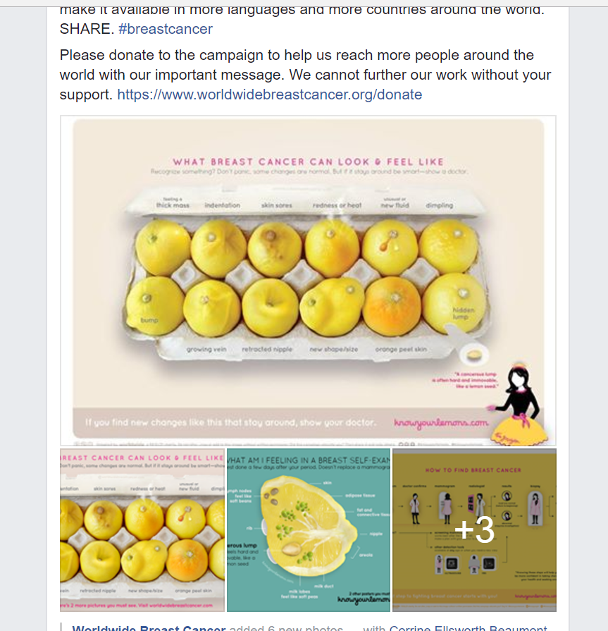 #KnowYourLemons Worldwide Breast Cancer campaign