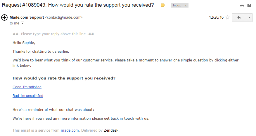 7. Ask for feedback | 7 Essential Tips for Stellar Social Customer Service