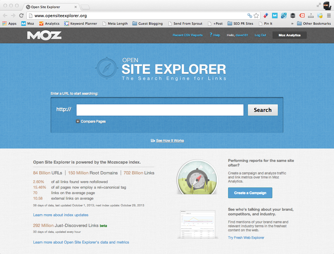 Open Site Explorer | The Ultimate Guide for Guest Blogging in 2015