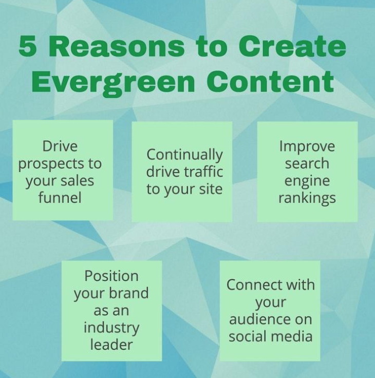 5 reasons to create evergreen content.