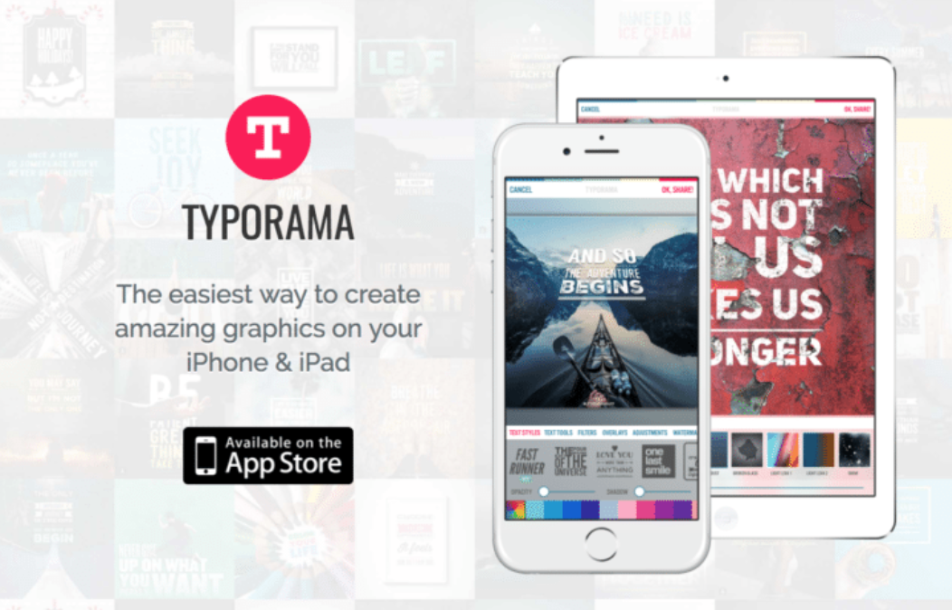 Typorama is an iPhone app thatmakes it easy to create amazing-looking graphics directly from your smartphone.
