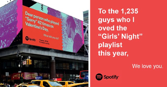 Spotify 'It's been weird' campaign