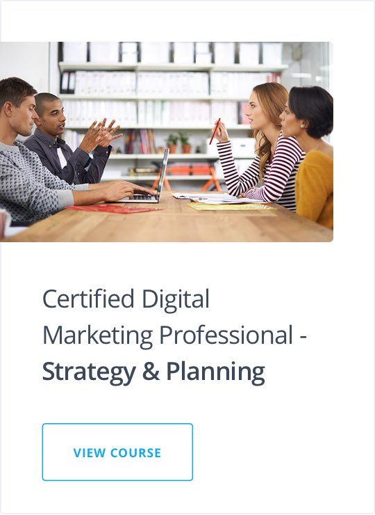 Specialist Diploma in Digital Strategy & Planning