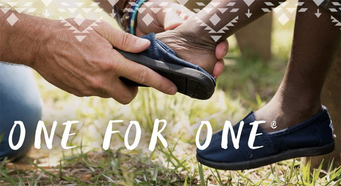 TOMs One for One initiative
