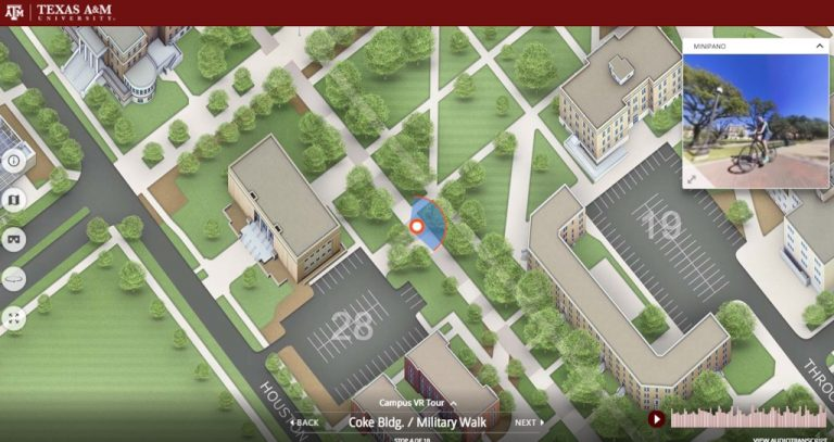 Texas A&M virtual tour shot
