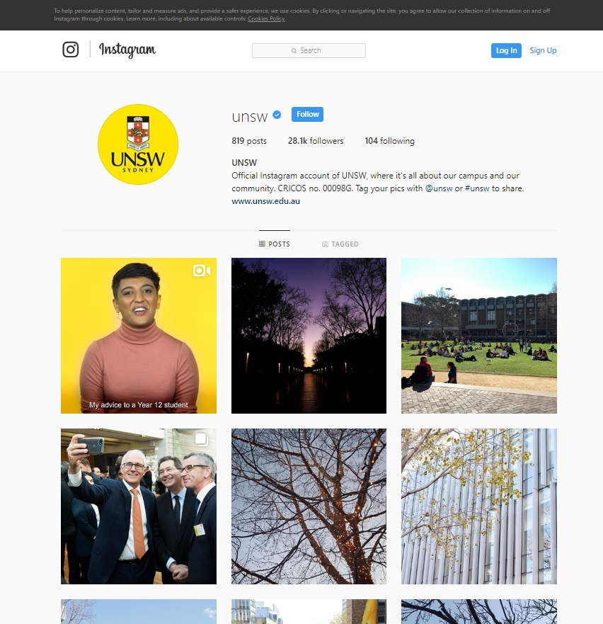 University of New South Wales Instagram