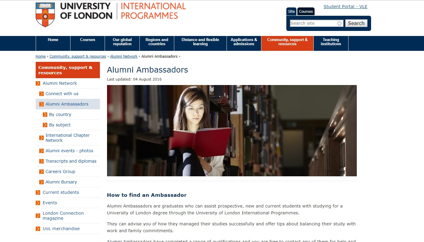 University of London Alumni Scheme