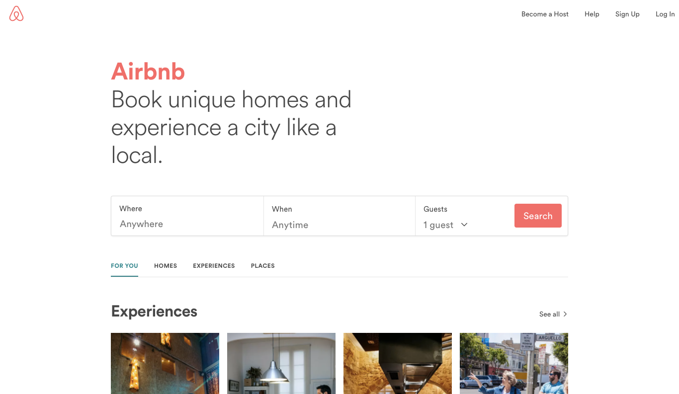 Airbnb marketing strategy.