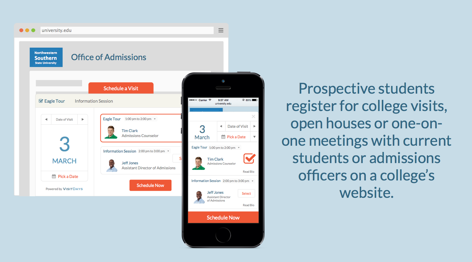 Visitdays app for prospective students