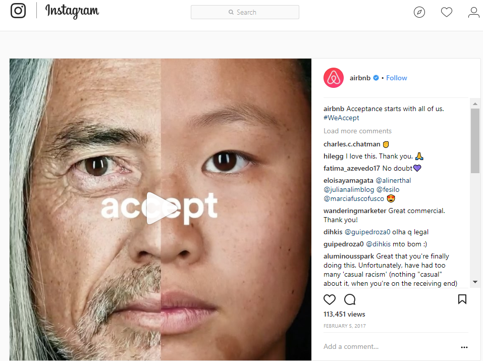 AirBnb ad for Instagram.