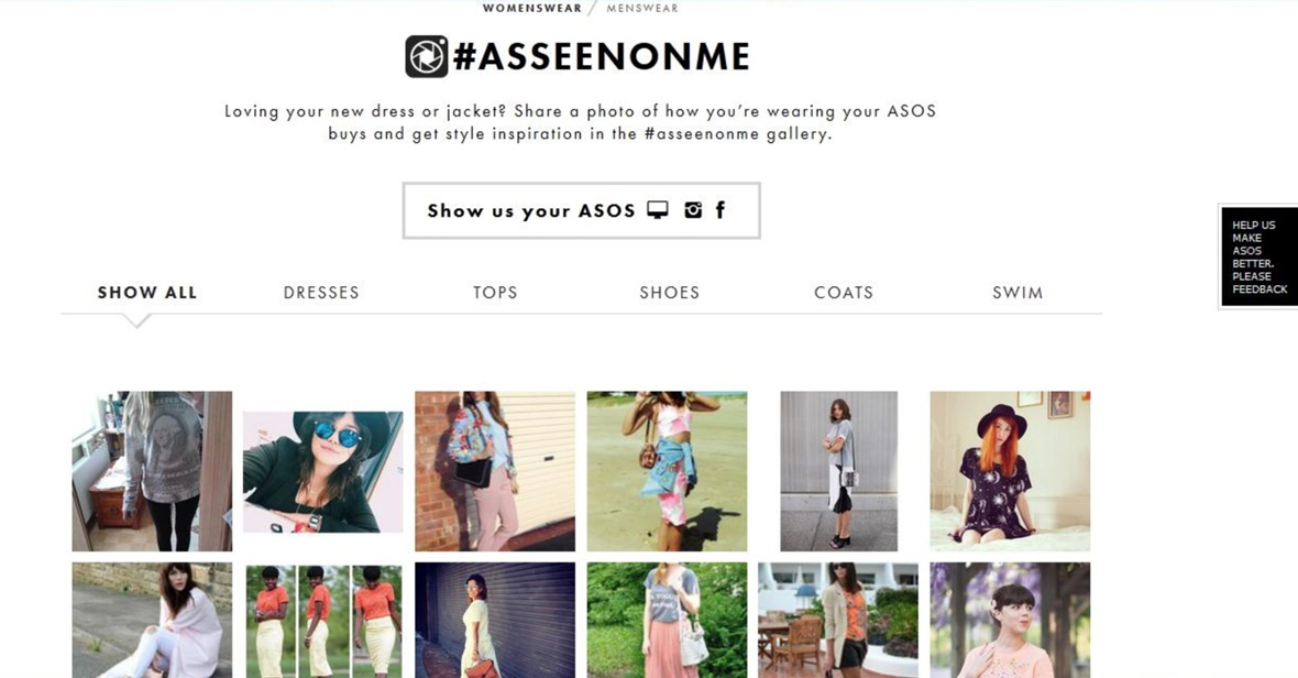 User-Generated & Influencer Content - ASOS