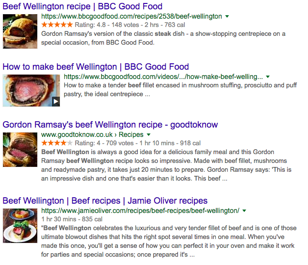 Beef Wellington search.