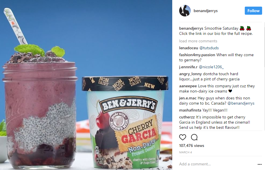 Ben and Jerry's successfully used social video in their campaigns to promote their products.