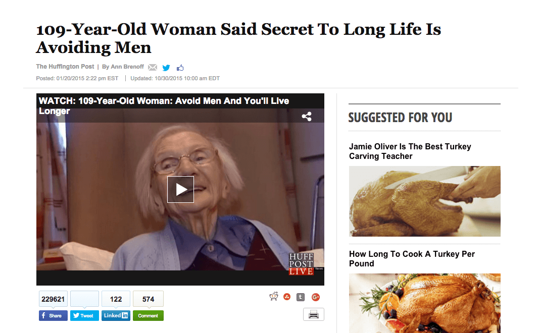 Viral Content - 109 year old woman