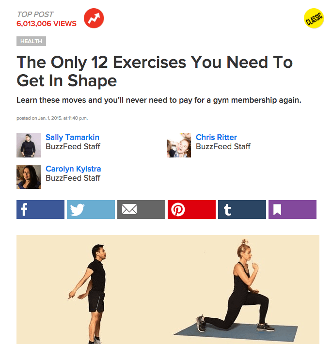 Viral Content - Buzzfeed Exercise