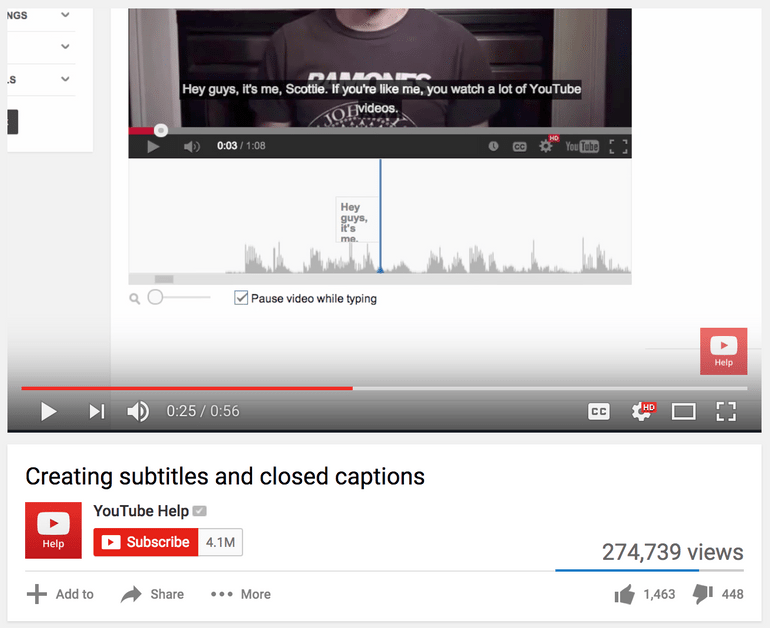 Closed captions are a YouTube search ranking factor, and adding them to your videos is a great way to strengthen your SEO.