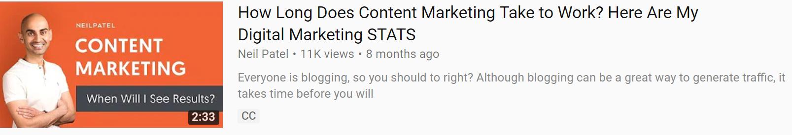 Anuncio de marketing de contenidos.
