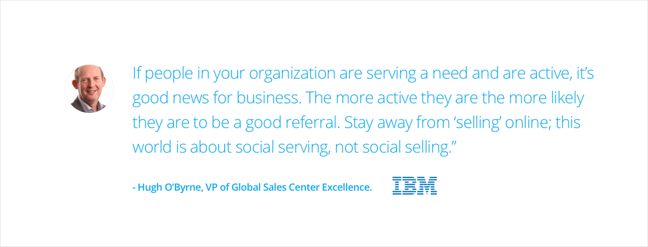 IBM Case Study - Hugh O'Byrne quote on social selling | Digital Marketing Institute