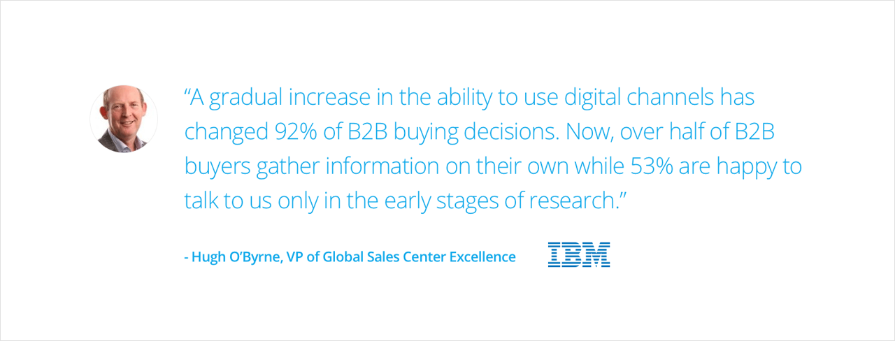 IBM Case Study - Hugh O'Byrne quote on B2B buying decisions | Digital Marketing Institute
