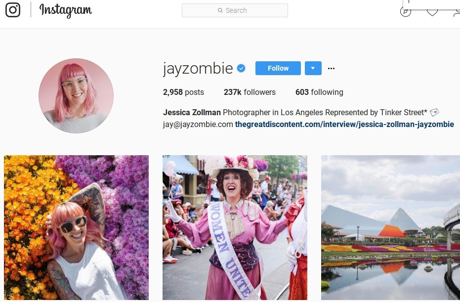 Jessica Zollman is a photographer, but as a social media influencer, she is a force to be reckoned with.
