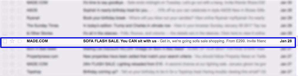 Pre-header text or the 'Johnson Box' can be equally as important as the subject line in an email.