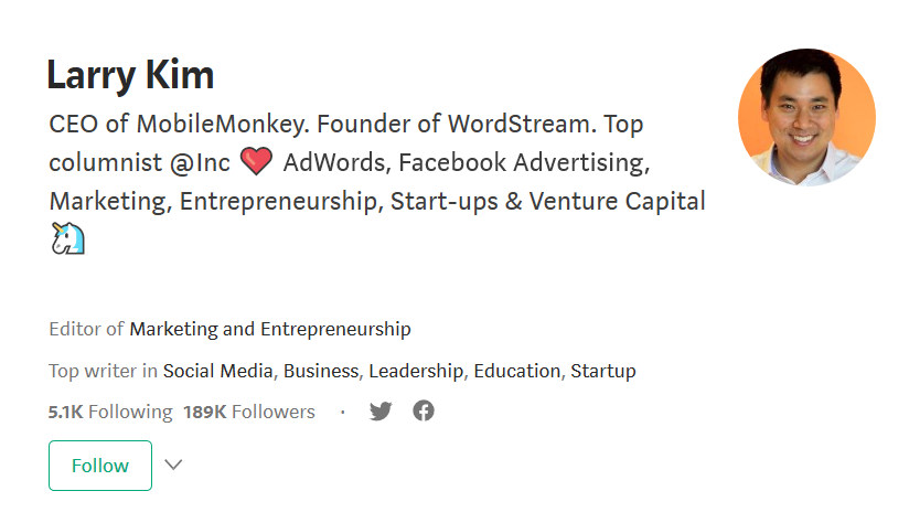 Larry Kim on Medium.