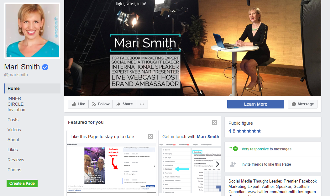Hailed by Forbes as one of the world's top social media power influencers; Mari Smith is now widely regarded as the Queen of Facebook.