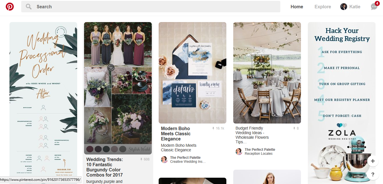 Pinterest can be a great place for B2C brands to show off their style and personality. Source: Pinterest.